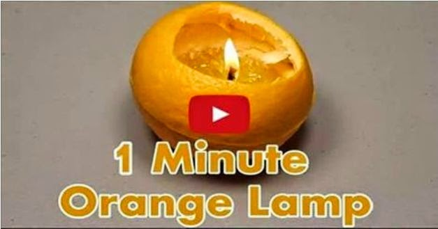 How to Make a Lamp from an Orange in Just 1 Minute