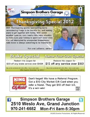 Auto repair newsletter special coupon