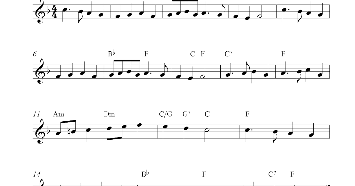 Deck The Halls, free Christmas flute sheet music notes