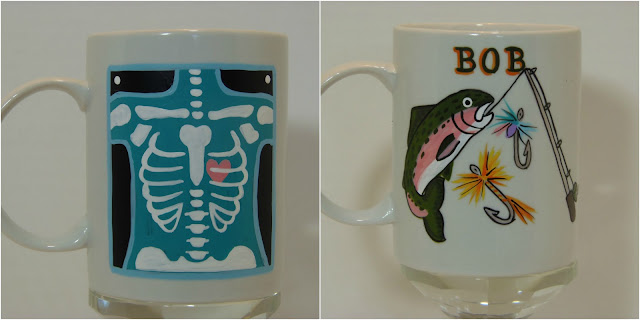 Custom Painted Hobby Coffee Mugs
