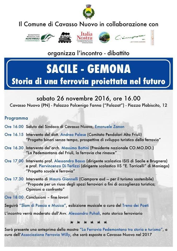 Sacile-Gemona: Storia di una ferrovia proiettata nel futuro