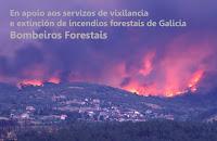 En apoio aos servizos de vixilancia e extinción de incendios de Galicia. Bombeiros Forestais