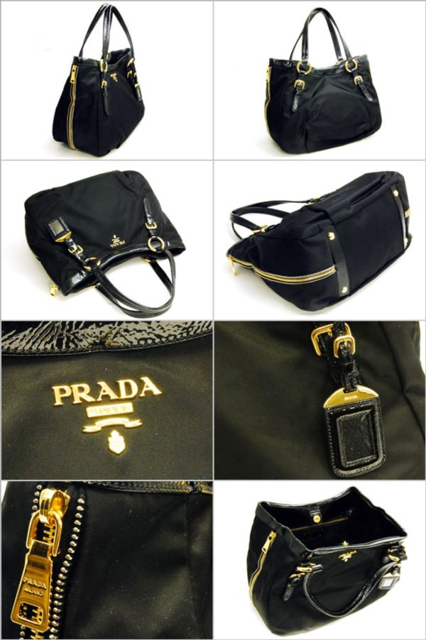 prada designer bags - De\u0026#39;Summerswing: PRADA R4098 TESSUTO VERNICE NERO