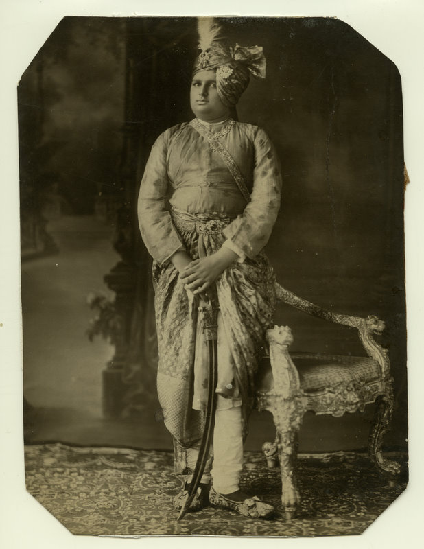 Indian Prince with Sword - Vintage Photograph 1870's