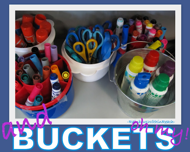 photo of: Art Supplies Organized for Classroom Use
