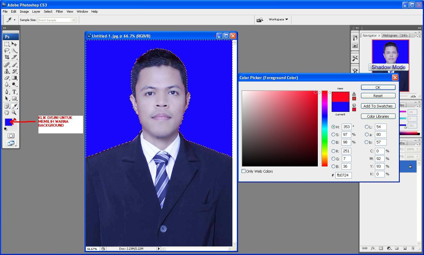Cara merubah warna background pas foto dengan photoshop cs4 47