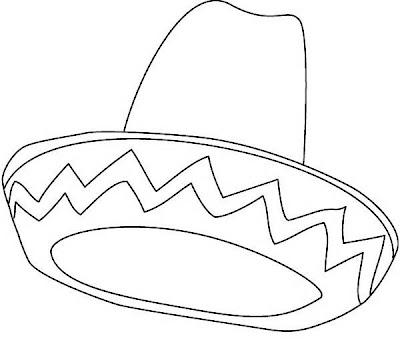 Sombrero Mexicano para colorear y pintar ~ 4 Dibujo