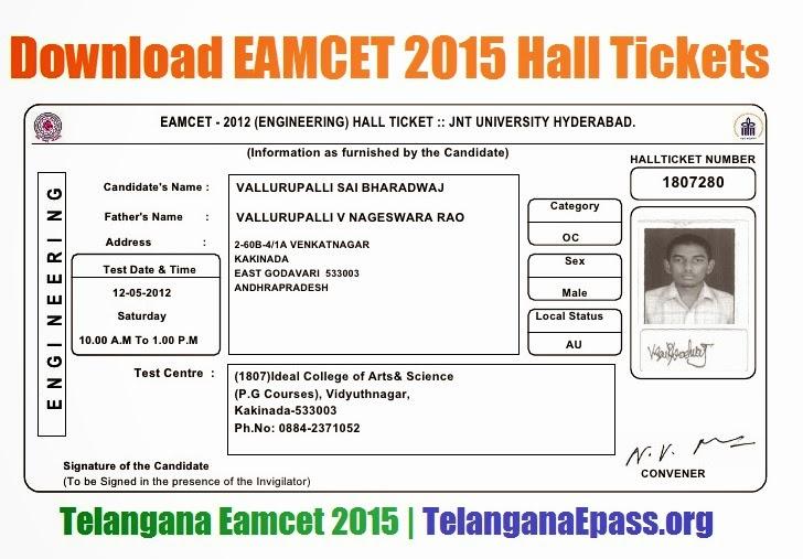 AP DEECET TTC Exam Rank Card 2015