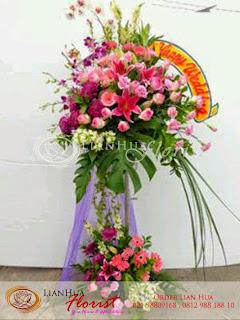 bunga standing flowers, bunga standing besar & mewah, bunga ucapan pernikahan, bunga ucapan selamat & sukses, congratulations flowers, toko bunga jakarta