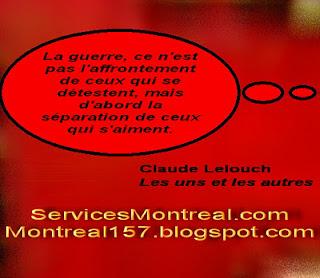 Claude Lelouch sur la guerre...
