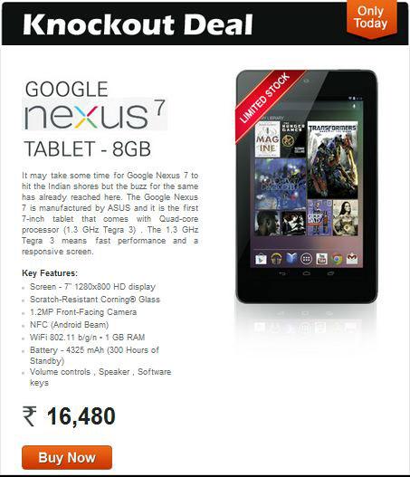 How to Bu Google nexus from India