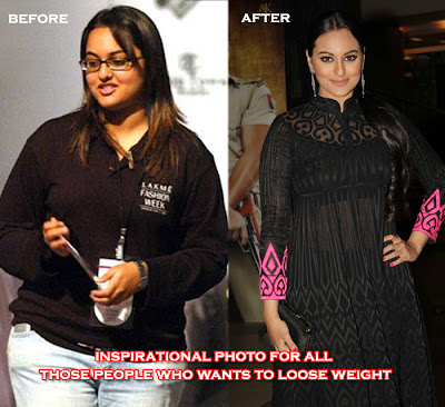 Sonakshi Sinha Fat Photos in black and blue jeans