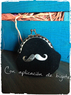 BLACK COIN PURSE MONEDERO NEGRO CROCHET BY PITIS&LILUS