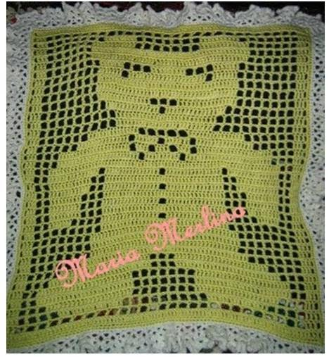 ... Crib Blanket in the Filet Extended Double Crochet Stitch Graph Chart