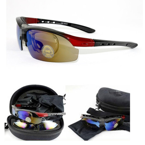Outdoor Cycling Hiking Travel Sport UV400 Sun Glasses Goggle Sunglasses 5 Lens