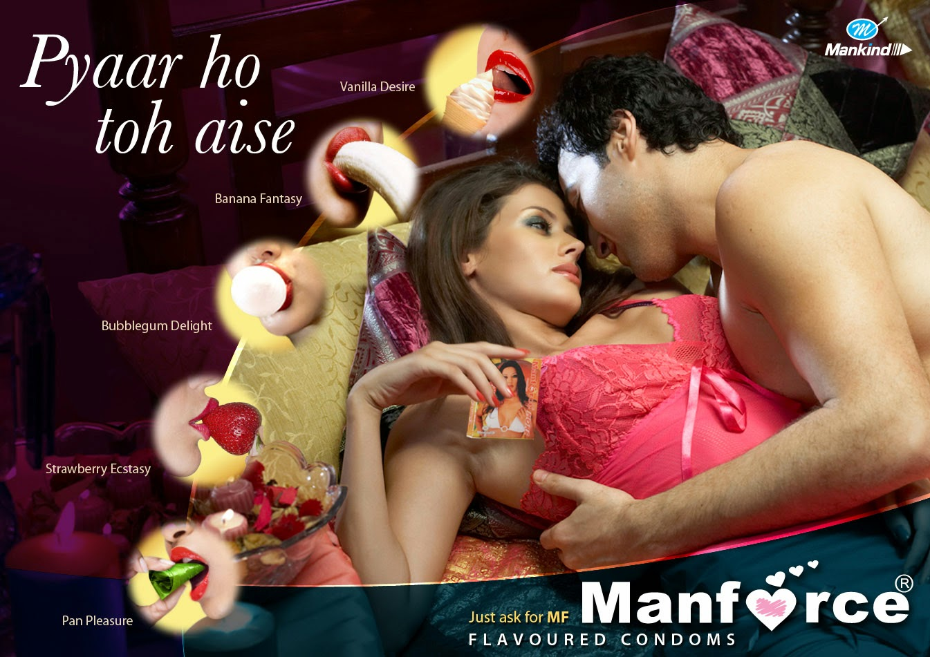 New ad of manforce condoms