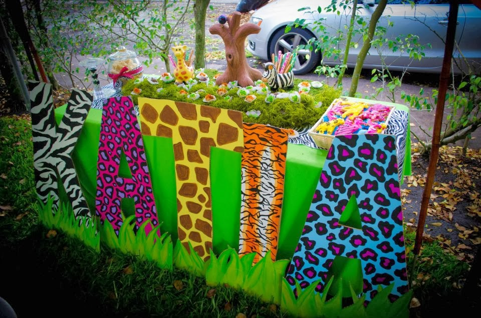 First Birthday Jungle Decorations Image Inspiration of Cake and