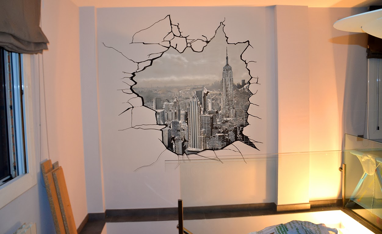 berok graffiti mural profesional en barcelona ideas para una decoraci n mural elegante. Black Bedroom Furniture Sets. Home Design Ideas