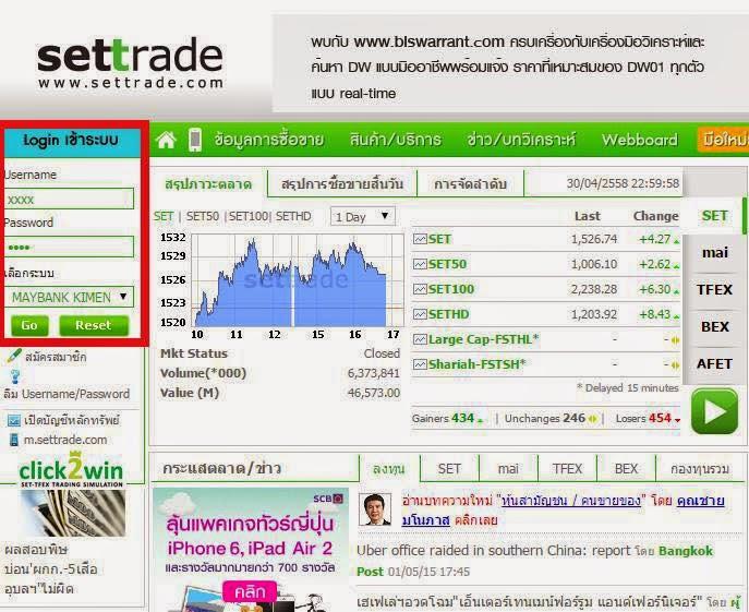 stocks.exchange login