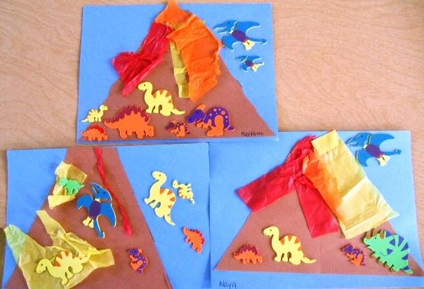 volcano crafts for preschoolers preschool playbook erupting volcanoes 765