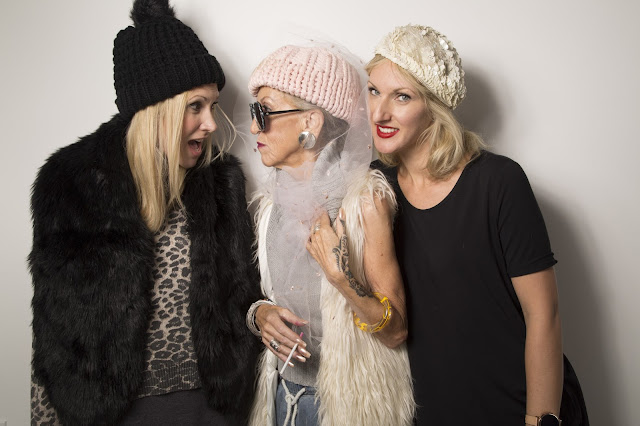 Judith Maria Bradley with Ange and Jules of Fitzroy Boutique