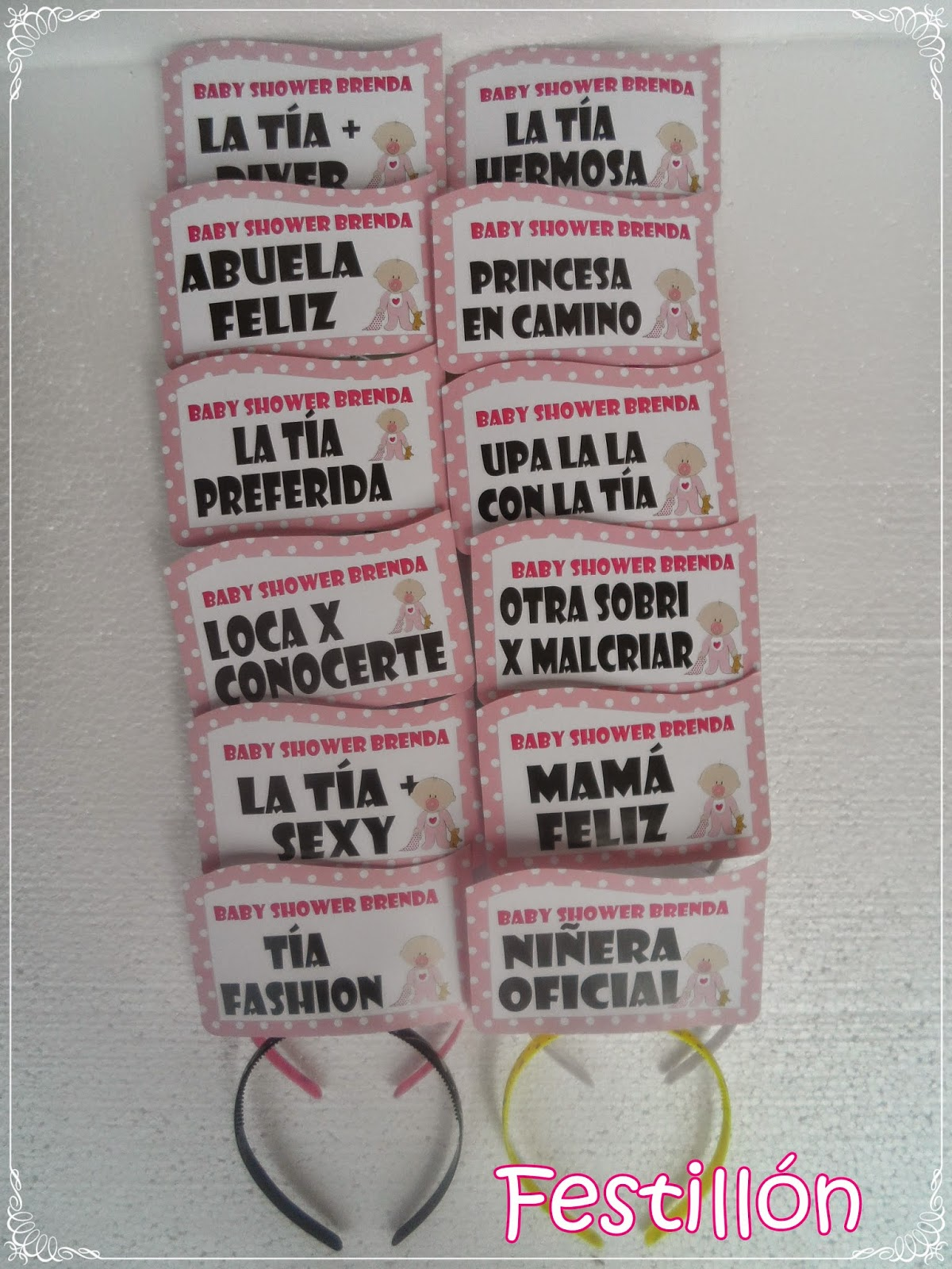 Good Vinchas Con Frases Para Baby Shower !