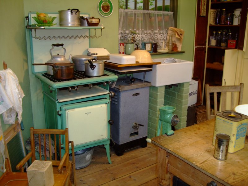 In The Boat With Vivian A Typical Kitchen Of 1930s
