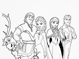 Movie Frozen Olaf Coloring Pages