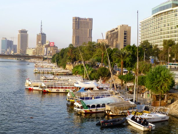La corniche del Nilo.