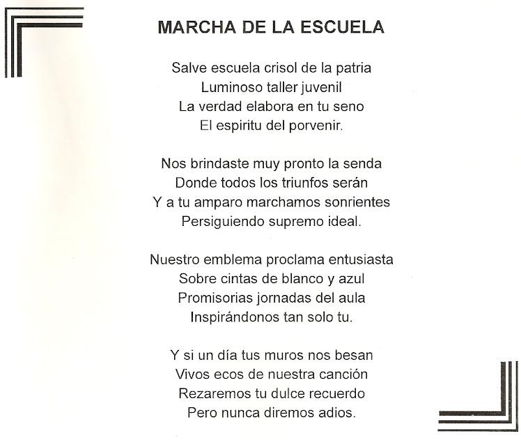 MARCHA DE LA ESCUELA