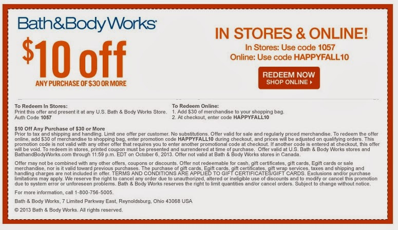 All Active Bath and Body Works Promo Codes & Coupons - Up To $10 off in November Bath and Body Works is a specialty retailer that carries shower gels, perfumes, lotions as well as fragrance mists.5/5(1).