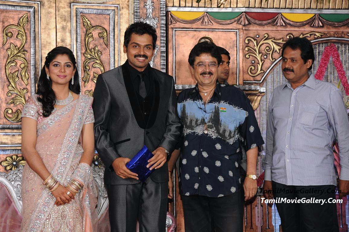 Karthi Reception Photos Suriya, Jyothika @ Karthi Reception Stills