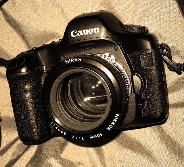Canon Eos 5d with Nikon 50mm f/1.2 photograph by Tim Irving