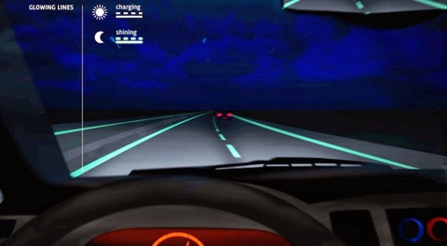 Glow-in-the-dark highway