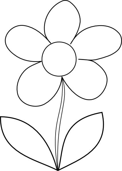 simple flower coloring pages flower coloring page