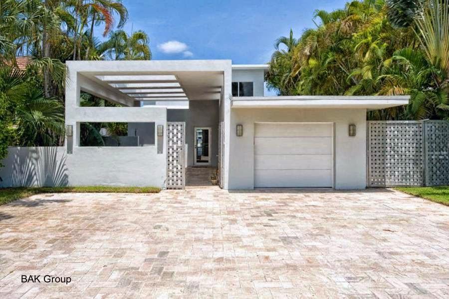Casa residencial Modernista en Miami Beach renovada 2009