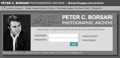 Peter Borsari Photo Archive Access