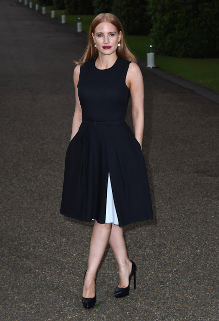 Actress @ Jessica Chastain - Vogue and Ralph Lauren Wimbledon party in London