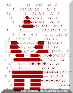 Symbole facebook pour Papa Noël