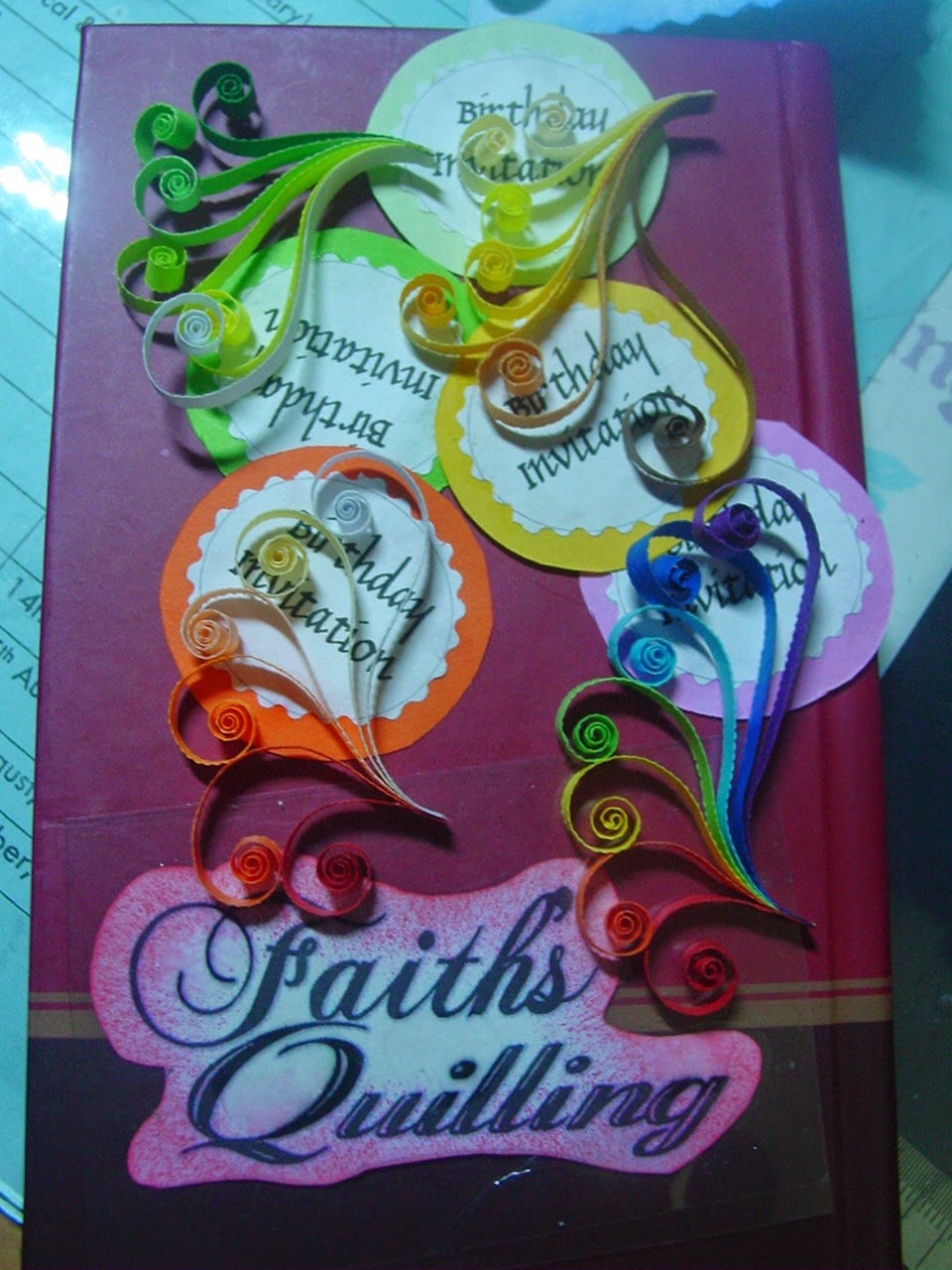 Faiths quilling birthday invitation cards these birthday invitation cards were made for a friend of mine for her sons 5th birthday stopboris Choice Image