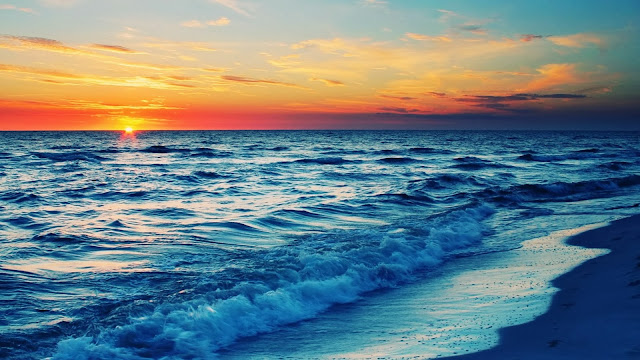 Sunset Beach HD Wallpaper