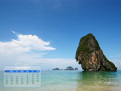 ปฏิทิน desktop (วอลล์เปเปอร์) เดือนกันยายน 2554