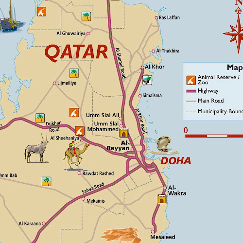 Doha region map