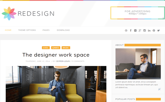 ReDesign Free Blogger Template 2015 - Msn4Free - Free Blogger Templates 2015
