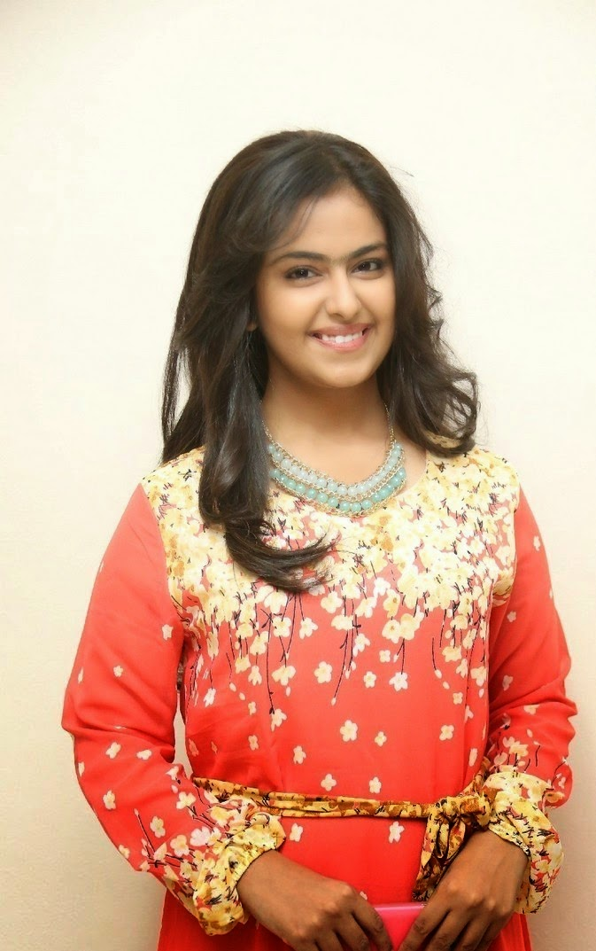 Avika Gor in Long Dress at Lakshmi Raave Maa Intiki Trailor Launch