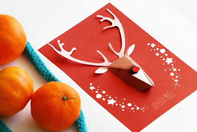 Carte Noel renne