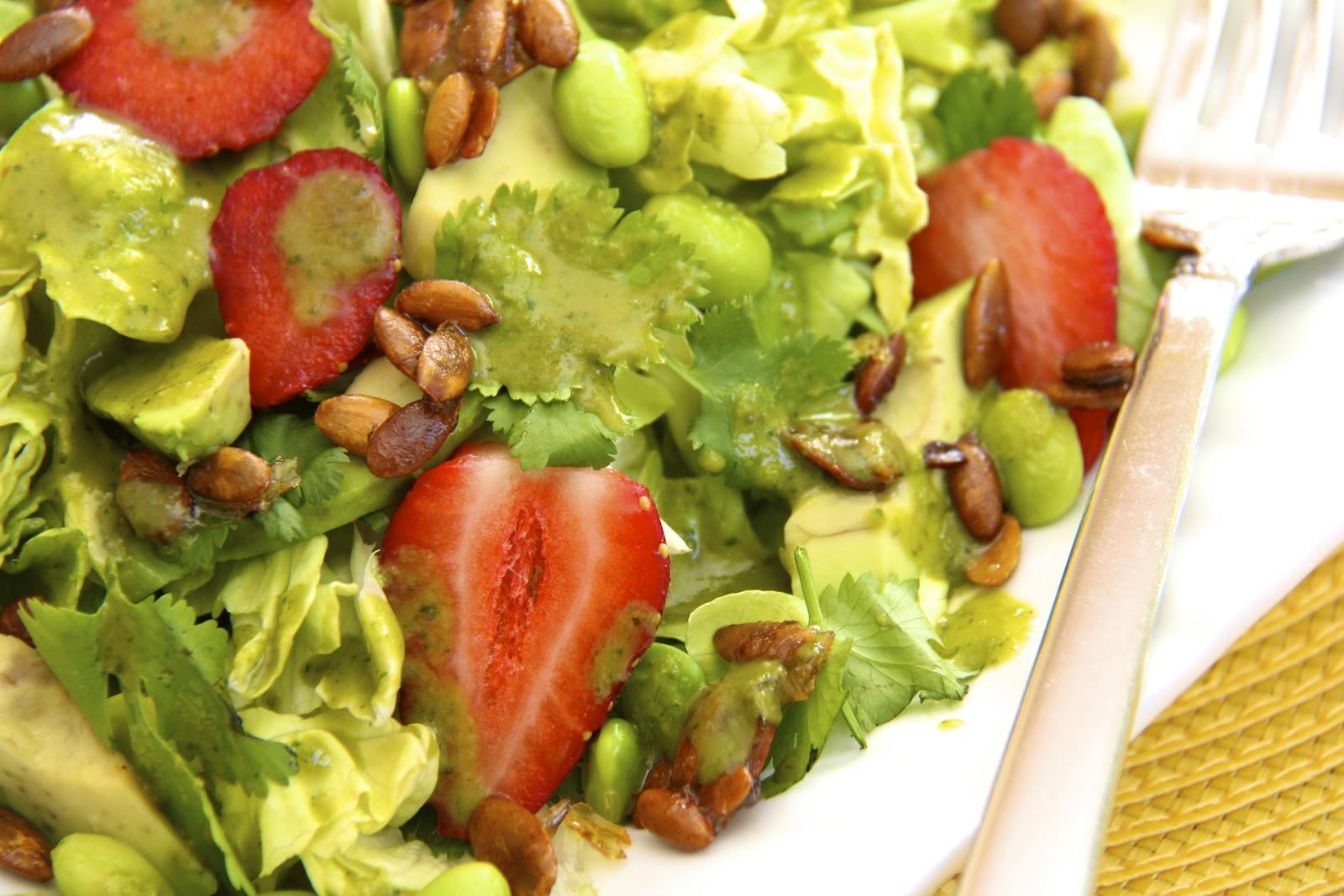 Butter Lettuce Salad w/ Strawberries, Avocado, Edamame ...