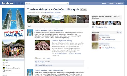 tourism facebook page