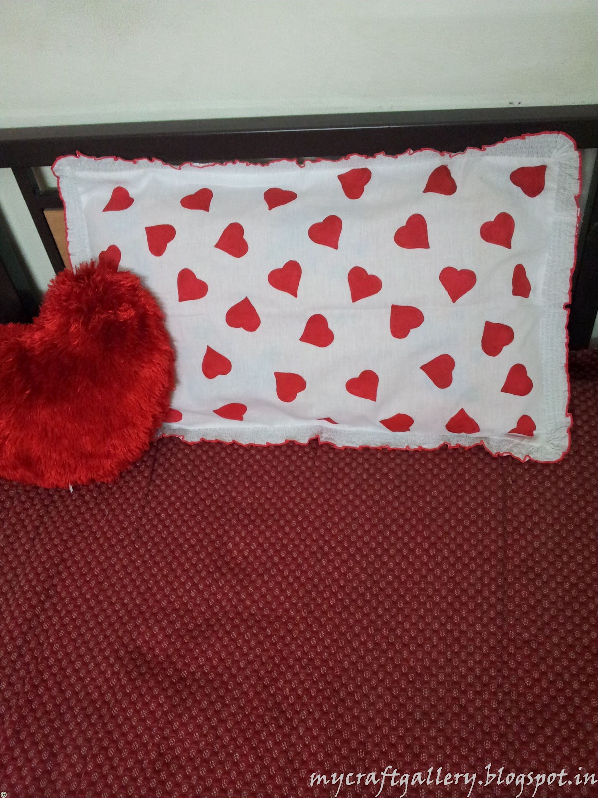 FABRIC PAINTED PILLOW COVER