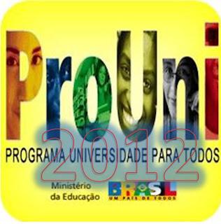 Prouni - Inscrição 2012 começa dia 14 de janeiro